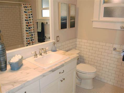 wainscot tile charming subway tile wainscoting bathroom with white