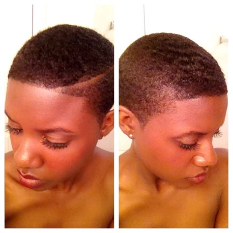 big chop natural hair fade twa design short curly instagram naturallybrandyysmtih fresh cut side part faded