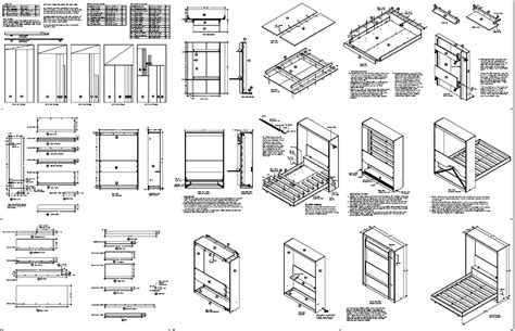 wall bed plans queen vertical wall bed desk combo woodworking project