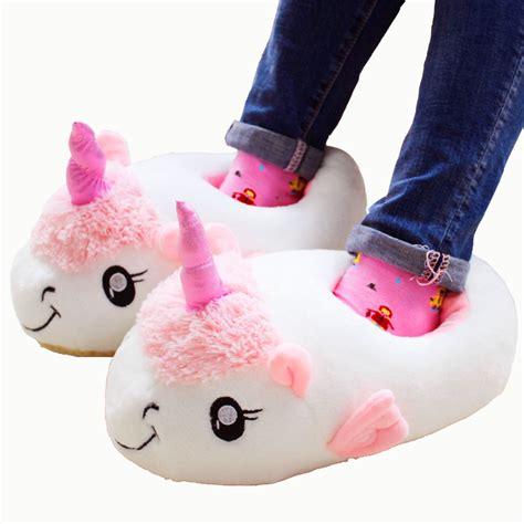fashion house shoes 2017 new fashion unicorn shoes plush slippers indoor house shoes women warm creative expression