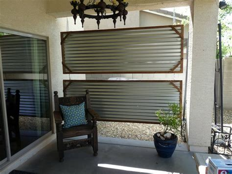 corrugated metal decorating ideas home decor pinterest privacy shield with corrugated steel decor ideas