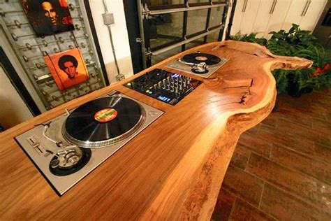 wooden dj table wooden dj table dj setup at fundjstuff