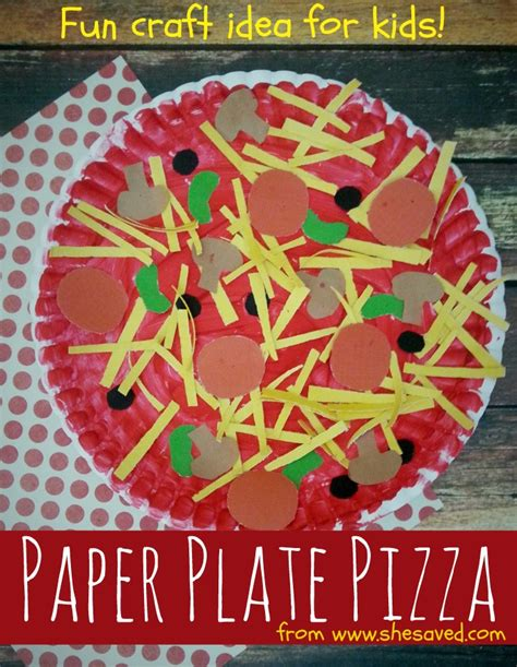 How To Make Paper Pizza - paper plate pizza craft idea shesaved 174