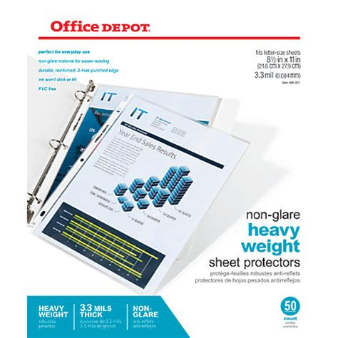 best sheet brands on amazon office depot brand top loading sheet protectors