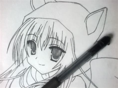 imagenes anime lapiz dibujando chica estilo anime 2 taringa