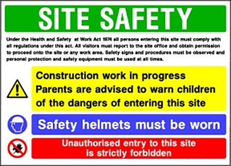 Signs For Sheds by Site Safety Signs Building Construction Health And