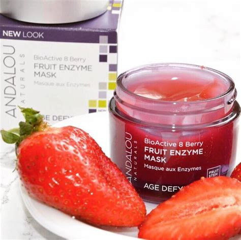 fruit enzyme mask mặt nạ chống l 227 o h 243 a andalou 8 berry fruit enzyme mask