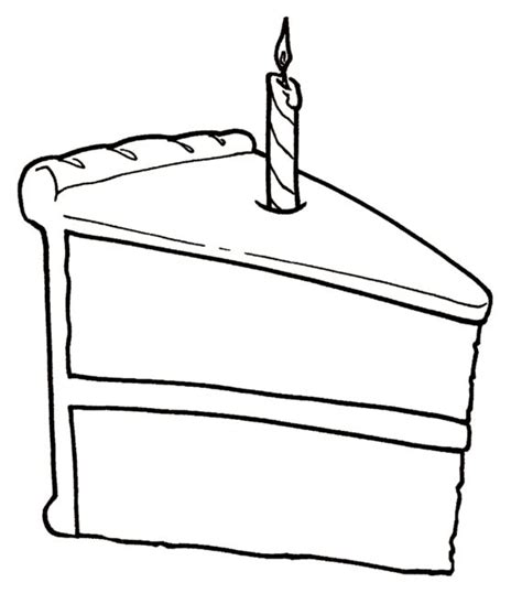 coloring pages of a piece of cake slice of cake clipart black and white clipartxtras