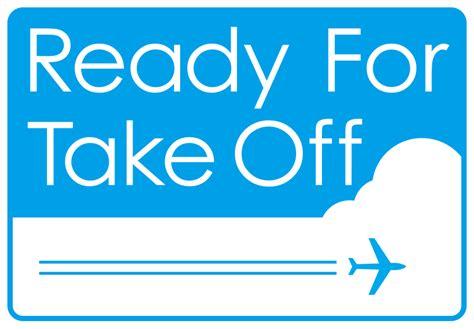 Ready Take ready for takeoff 航空券