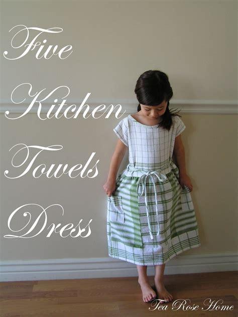 kitchen towel dress   sew  baby dress