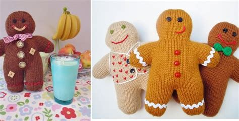 knitting pattern gingerbread man fun knitted gingerbread men free knitting pattern