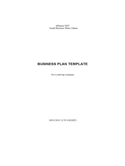 generic business proposal template 5 free templates in