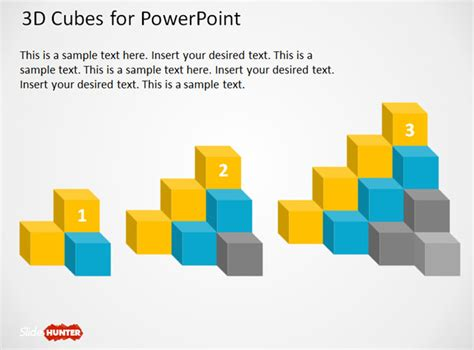 Free 3d Cube Shapes For Powerpoint Free Powerpoint Shapes