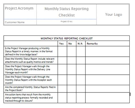 Communication Report Template Monthly Status Reporting Checklistbig Beautiful Template Design Communications Report Template