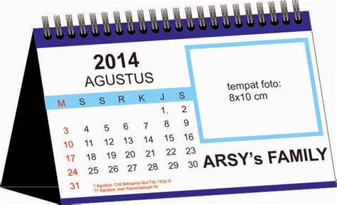 Kalender Dinding Duduk Surabaya create design print kalender duduk meja 2014