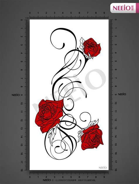 leg rose vine tattoos aliexpress buy nat093 neeio vines