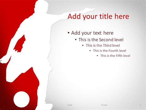 Soccer Powerpoint Template Red Presentationgo Com Soccer Powerpoint Template