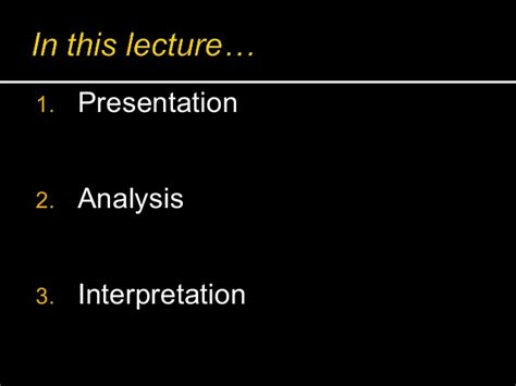 Presentation And Analysis Of Data In Thesis by Presentation Analysis And Interpretation Of Data Thesis