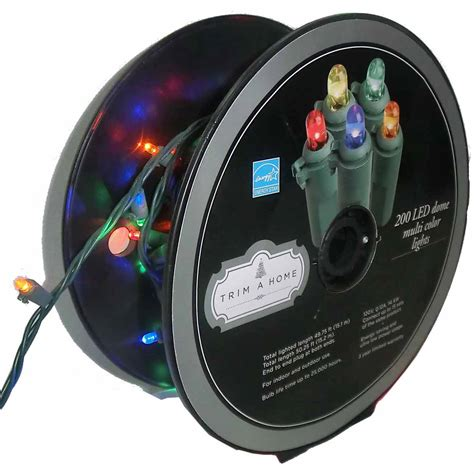 trim a home multicolor dome led lights kmart