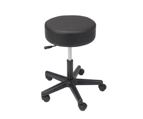Adjustable Padded Stool by Padded Seat Revolving Pneumatic Adjustable Height Stool