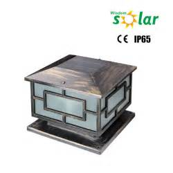 solar pillar light outdoor led solar powered pillar lights jr 3018 buy