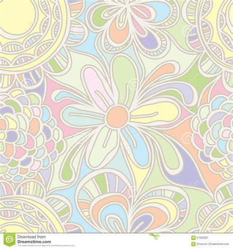 pattern pastel drawing flower drawing pastel color seamless pattern stock vector