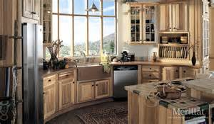 kitchen cabinets merillat merillat classic 174 sutton cliffs in hickory natural merillat
