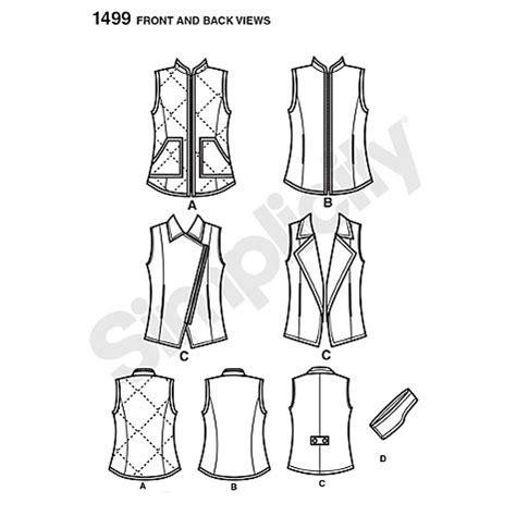 sewing pattern gilet buy simplicity gilet sewing pattern 1499 john lewis
