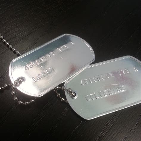 wolverine tags wolverine tag necklace xmen logan us army id tags hugh jackman new ebay