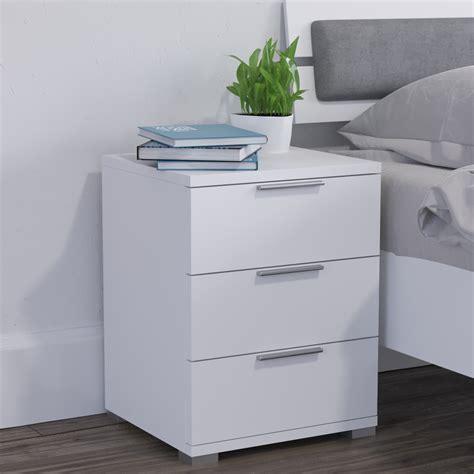 comodini con cassetti comodino con cassetti per da letto in rovere bianco