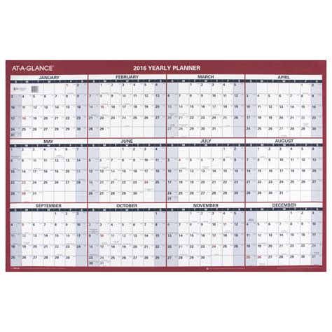 Wall Calendars At A Glance Paper Yearly Wall Calendar 2016