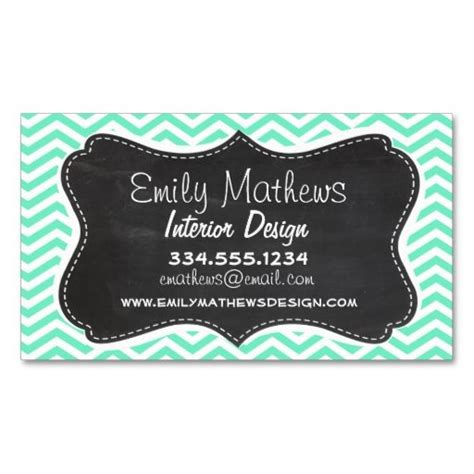 beauticontrol business card templates vintage chalkboard aquamarine chevron zig zag business