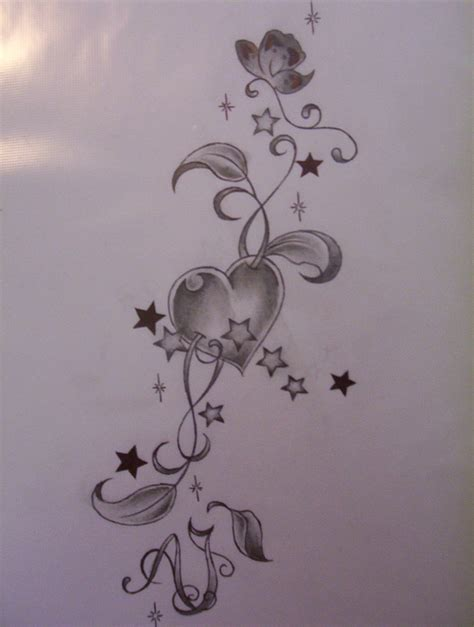 stars and heart tattoos designs design by tattoosuzette on deviantart