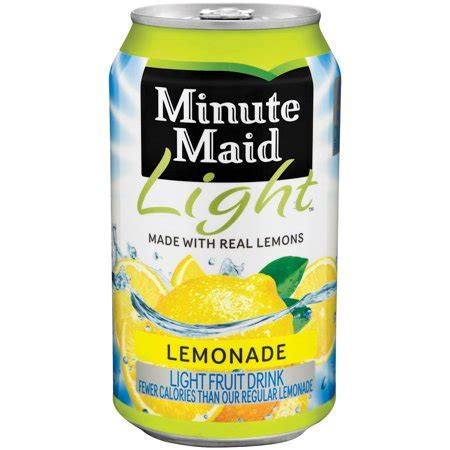 minute light lemonade drink minute light lemonade fruit drink 12 fl oz can