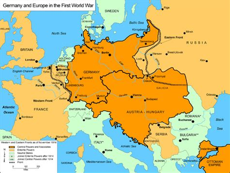 germany ww1 map 1 germany map war world
