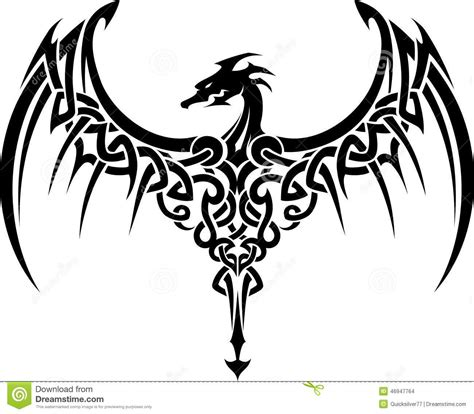 celtic tribal dragon tattoo celtic stock illustration image 46947764