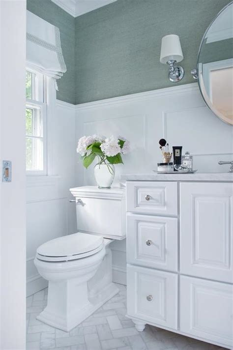 sea foam green bathroom white bathroom with sea foam green accents transitional