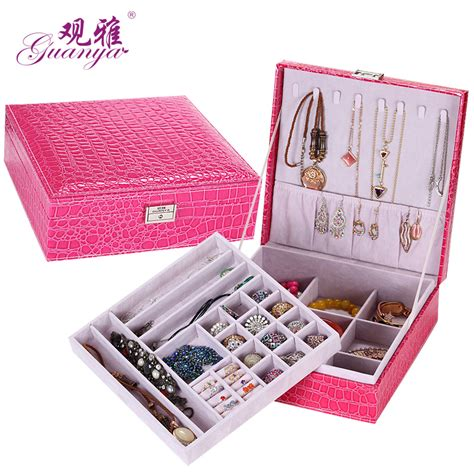new style 2016 new large sector faux leather jewelry box