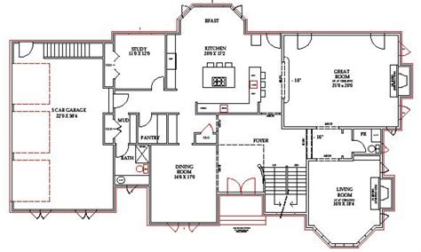 lake home floor plans lake house plans walkout basement