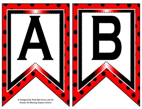 make printable ladybug birthday banner small swallowtail printable banner letters a z numbers 0