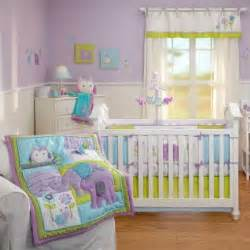 And owls infant baby girls 5p nursery crib forest animals bedding set