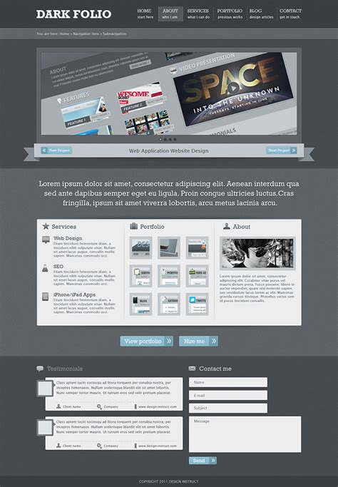 layout portfolio photoshop 48 excellent tutorials for designing websites in photoshop