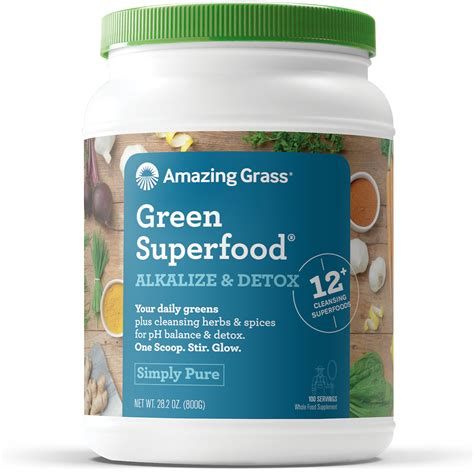 Green Superfood Amazing Grass Alkalize And Detox by Amazing Grass Green Superfood Organic Powder