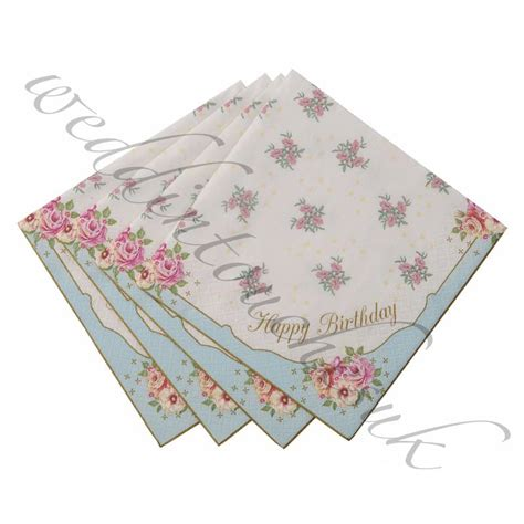 luxury paper napkins vintage style tea party accessories hen party shabby chic ebay