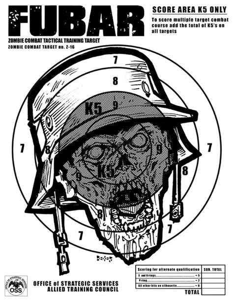printable zombie head targets boom headshot steve becker killustrator