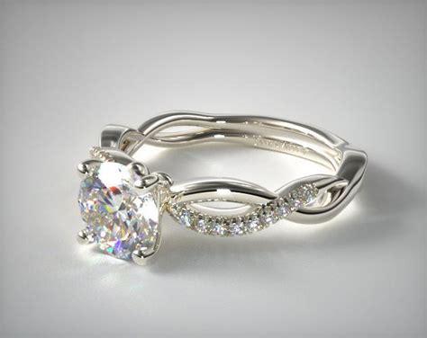 14k white gold infinity ring infinity engagement ring 14k white gold