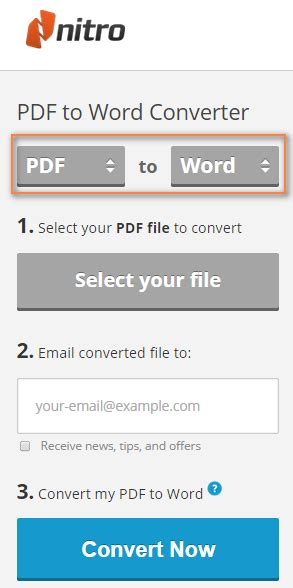 Convert Pdf To Word Language | nitro pdf to word converter
