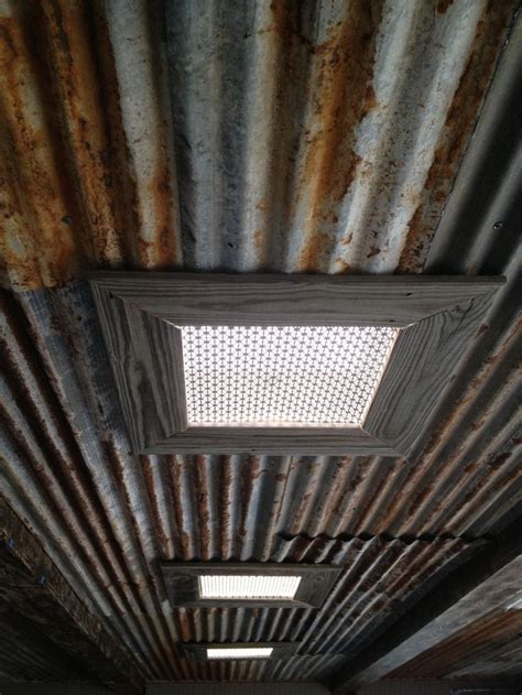 rustic tin ceiling and skylights interested in this