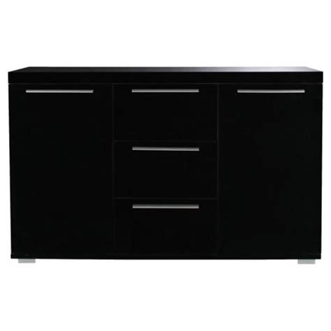 Sideboard Black Gloss buy milan black high gloss sideboard with chrome handles large from our sideboards range tesco