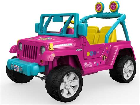 barbie jeep new power wheels barbie jeep wrangler 12 volt ride on